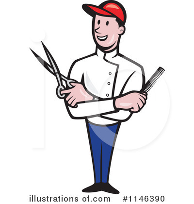 Barber Clipart #1146390 by patrimonio