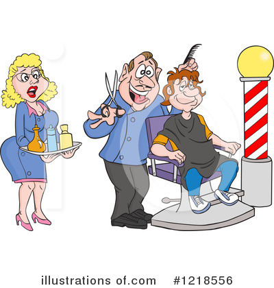 Barber Pole Clipart #1218556 by LaffToon