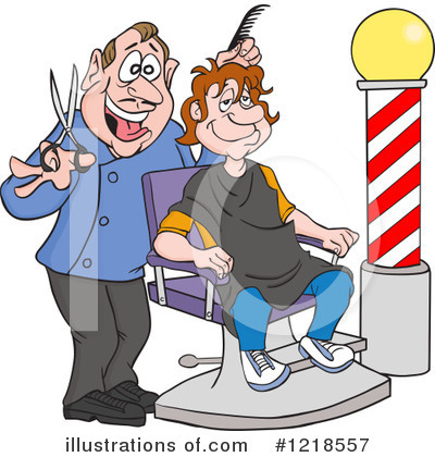 Barber Clipart #1218557 by LaffToon