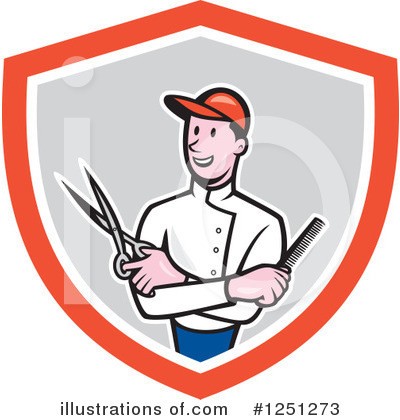 Barber Clipart #1251273 by patrimonio