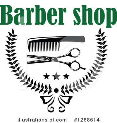 Barber Clipart #1268614 by Vector Tradition SM