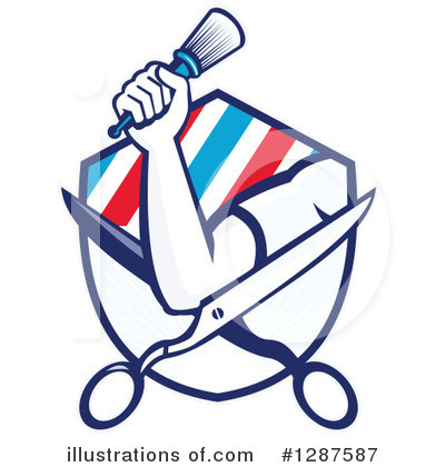 Barber Clipart #1287587 by patrimonio