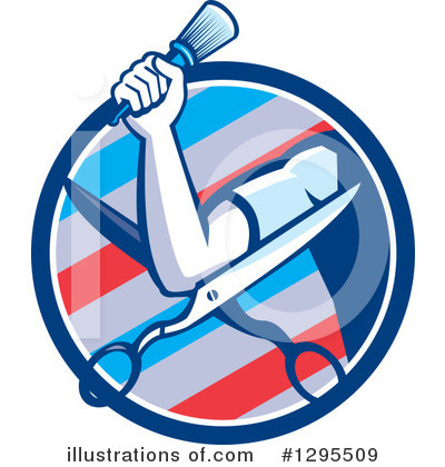 Barber Clipart #1295509 by patrimonio