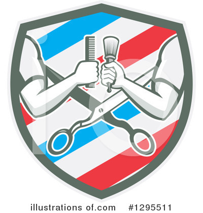 Barber Pole Clipart #1295511 by patrimonio