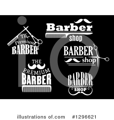 Barber Clipart #1296621 by Vector Tradition SM