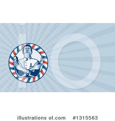 Royalty-Free (RF) Barber Clipart Illustration by patrimonio - Stock Sample #1315563