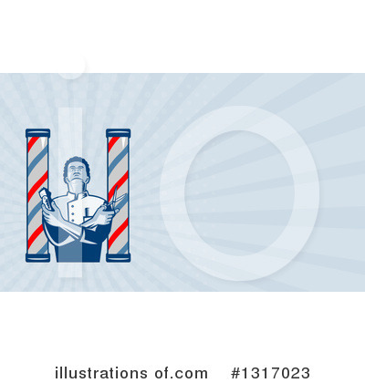 Barber Pole Clipart #1317023 by patrimonio
