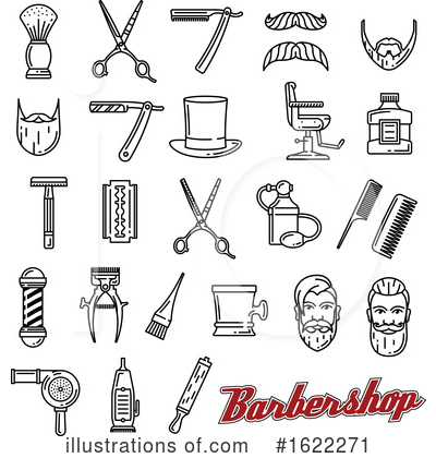 Royalty-Free (RF) Barber Clipart Illustration by Vector Tradition SM - Stock Sample #1622271