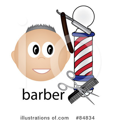 Royalty-Free (RF) Barber Clipart Illustration by Pams Clipart - Stock Sample #84834