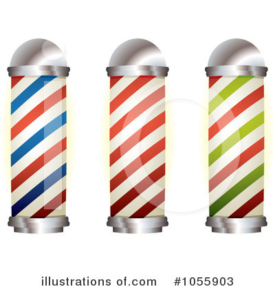 Barber Pole Clipart #1055903 by michaeltravers