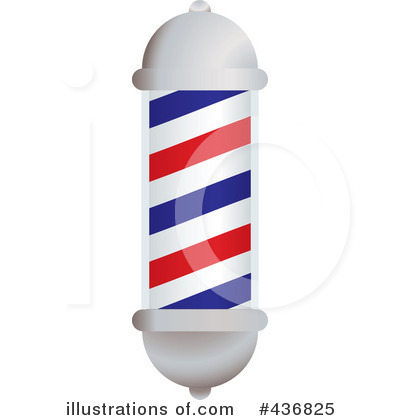Royalty-Free (RF) Barber Pole Clipart Illustration by michaeltravers - Stock Sample #436825