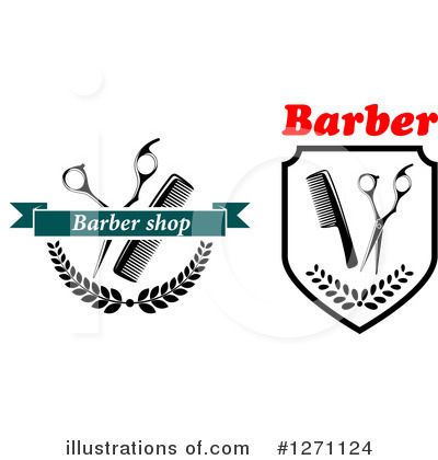 Barber Clipart #1271124 by Vector Tradition SM