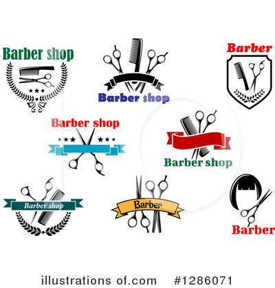 Barber Clipart #1286071 by Vector Tradition SM