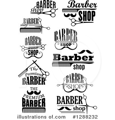 Barber Clipart #1288232 by Vector Tradition SM