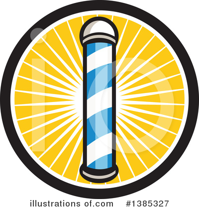 Barber Pole Clipart #1385327 by patrimonio