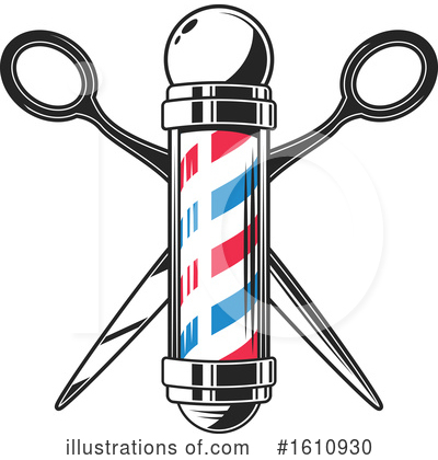 Barber Clipart #1610930 by Vector Tradition SM