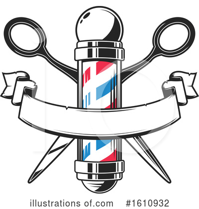 Barber Clipart #1610932 by Vector Tradition SM