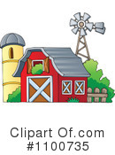 Royalty-Free (RF) Barn Clipart Illustration #1100735