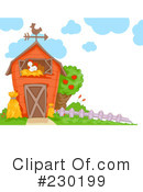 Royalty-Free (RF) Barn Clipart Illustration #230199