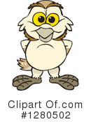 Barn Owl Clipart #1280502 by Dennis Holmes Designs