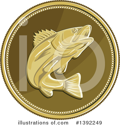 Barramundi Clipart #1392249 by patrimonio
