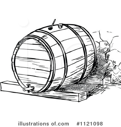 Royalty-Free  RF  Barrel Clipart Illustration  1121098 by Prawny    Whiskey Barrel Drawing