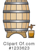 Royalty-Free (RF) Barrel Clipart Illustration #1233623