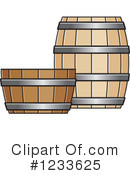 Royalty-Free (RF) Barrel Clipart Illustration #1233625