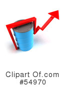 Royalty-Free (RF) Barrel Of Oil Clipart Illustration #54970
