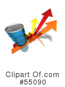 Royalty-Free (RF) Barrel Of Oil Clipart Illustration #55090