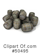 Royalty-Free (RF) Barrels Clipart Illustration #50495