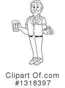 Bartender Clipart #1318397 by LaffToon