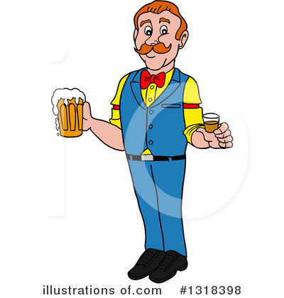 Bartender Clipart #1318398 by LaffToon