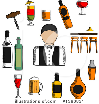 Wine Clipart #1380831 by Vector Tradition SM