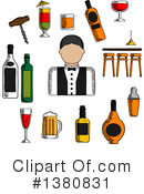 Bartender Clipart #1380831 by Vector Tradition SM