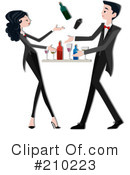 Royalty-Free (RF) Bartender Clipart Illustration #210223