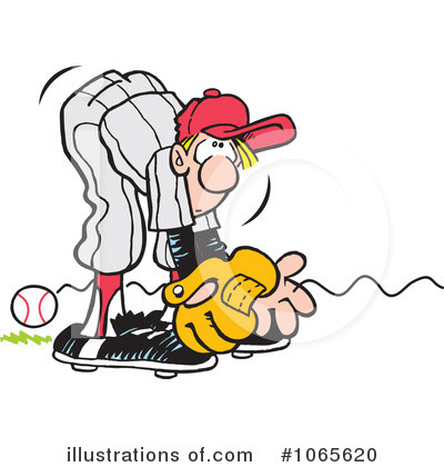 Baseball Clipart #1065620 by Johnny Sajem