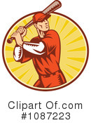Royalty-Free (RF) Baseball Clipart Illustration #1087223