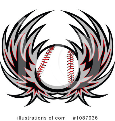 Softball Clipart #1087936 by Chromaco