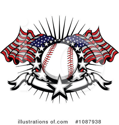 Softball Clipart #1087938 by Chromaco