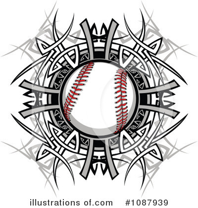 Softball Clipart #1087939 by Chromaco