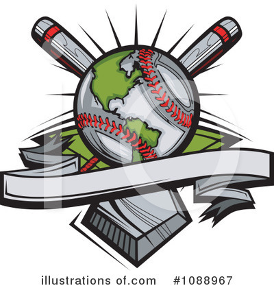 Softball Clipart #1088967 by Chromaco