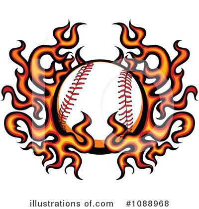 Softball Clipart #1088968 by Chromaco