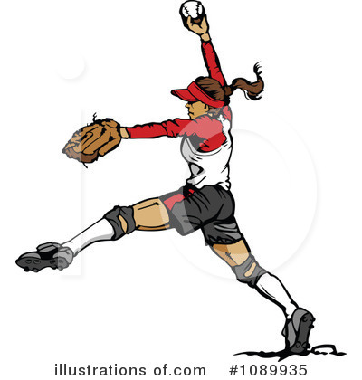 Softball Clipart #1089935 by Chromaco