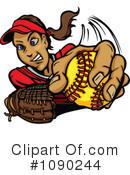 Royalty-Free (RF) Baseball Clipart Illustration #1090244