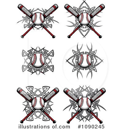 Royalty-Free (RF) Baseball Clipart Illustration by Chromaco - Stock Sample #1090245