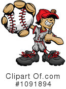 Baseball Clipart #1091894 by Chromaco