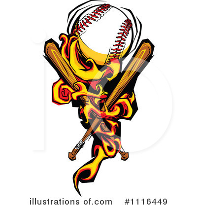 Baseball Clipart #1116449 by Chromaco