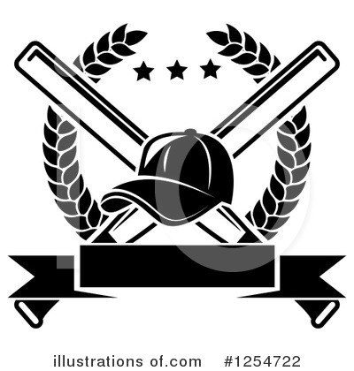 Baseball Clipart #1254722 by Vector Tradition SM