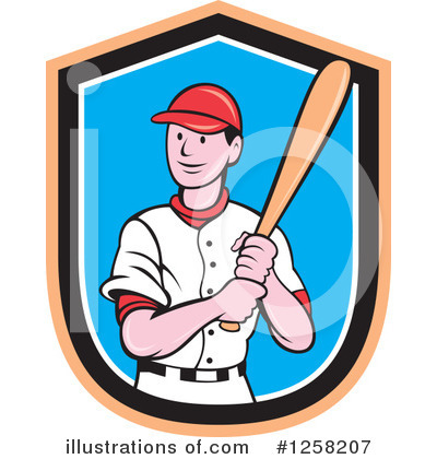 Royalty-Free (RF) Baseball Clipart Illustration by patrimonio - Stock Sample #1258207